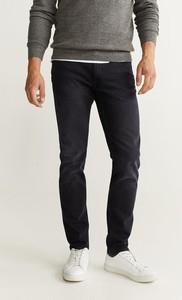 Czarne jeansy Mango Man z bawełny
