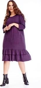Sukienka TAGLESS midi z okrągłym dekoltem