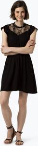 Czarna sukienka Only z okrągłym dekoltem z dżerseju
