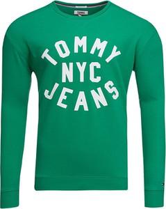 Zielona bluza Tommy Jeans z bawełny
