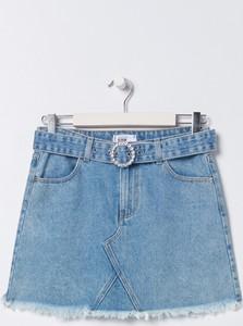Niebieska spódnica Sinsay z jeansu w stylu casual