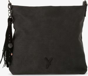 Czarna torebka Suri Frey z frędzlami matowa w stylu casual