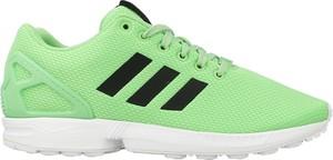 Miętowe buty sportowe adidas sznurowane w sportowym stylu zx flux