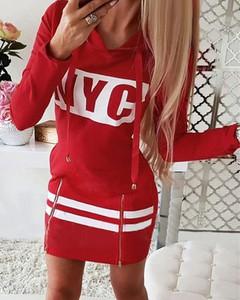 Czerwona sukienka Kendallme mini z bawełny sportowa