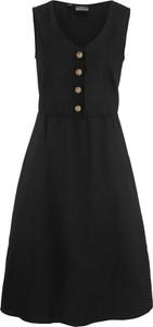Sukienka bonprix bpc bonprix collection rozkloszowana z lnu mini