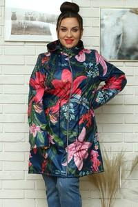 Kurtka KARKO w stylu casual długa z tkaniny