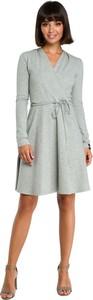 Sukienka Be mini z bawełny z długim rękawem