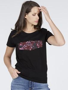 T-shirt Cross Jeans z okrągłym dekoltem z krótkim rękawem z bawełny