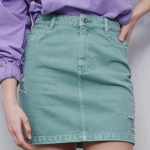 Turkusowa spódnica Reserved w stylu klasycznym mini