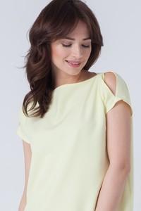 Żółta sukienka butik-choice.pl z krótkim rękawem