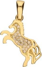 Lovrin Złota zawieszka 585 konik z cyrkoniami koń 1,27 g