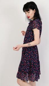 Granatowa sukienka Olika trapezowa midi