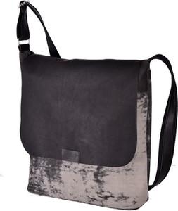 Czarna torebka Designs Fashion ze skóry