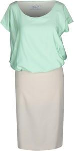 Sukienka Fokus w stylu casual z krótkim rękawem z szyfonu