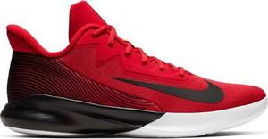 Czerwone buty sportowe Nike sznurowane