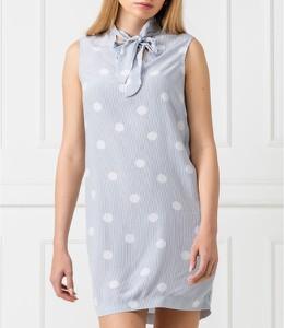 Sukienka Tommy Hilfiger bez rękawów z kołnierzykiem
