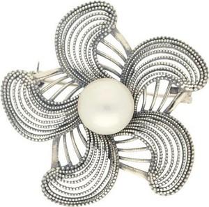 Polcarat Design Broszka z białą perłą B 168