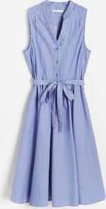 Sukienka Reserved szmizjerka mini bez rękawów