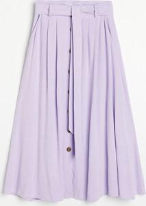 Fioletowa spódnica Reserved w stylu casual