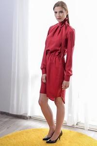 Sukienka Anna Bartula z tkaniny z długim rękawem maxi