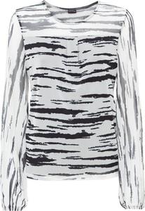 Bluzka bonprix z okrągłym dekoltem z długim rękawem w stylu casual