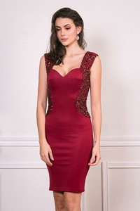 Sukienka Bain De Nuit z dekoltem w kształcie litery v dopasowana mini