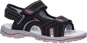 Czarne buty dziecięce letnie Casu na rzepy
