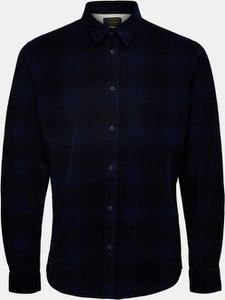 Niebieska koszula Selected Homme z bawełny w stylu casual z klasycznym kołnierzykiem