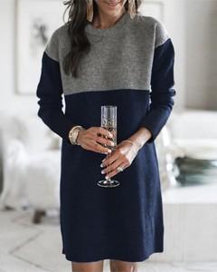 Sukienka Kendallme z długim rękawem prosta w stylu casual