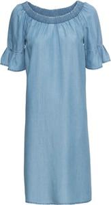 Sukienka bonprix RAINBOW w stylu casual z krótkim rękawem z okrągłym dekoltem