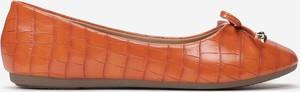 Pomarańczowe baleriny Multu z płaską podeszwą