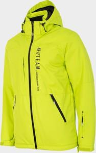 Żółta kurtka 4F krótka z plaru