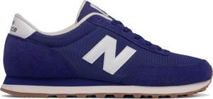 Niebieskie buty sportowe New Balance z zamszu sznurowane