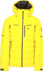 Żółta kurtka Spyder z tkaniny