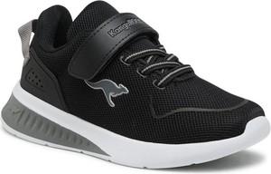 Czarne buty sportowe dziecięce Kangaroos sznurowane dla chłopców