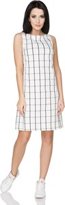 Sukienka sukienki.pl z tkaniny z okrągłym dekoltem mini