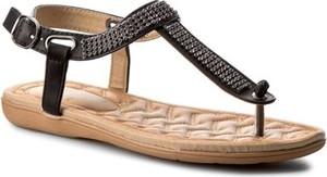 Czarne sandały Jenny Fairy z klamrami