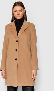 Brązowy płaszcz Vero Moda bez kaptura