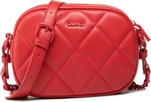 Czerwona torebka Quazi mała na ramię matowa