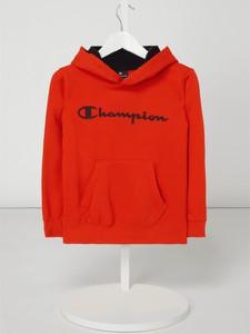 Czerwona bluza dziecięca Champion z bawełny
