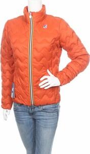 Pomarańczowa kurtka K-Way w stylu casual krótka