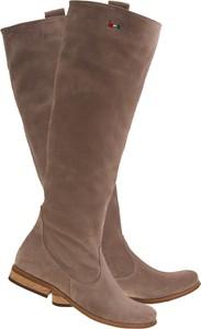 Kozaki Lafemmeshoes w stylu casual przed kolano ze skóry