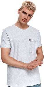 T-shirt Top Secret w stylu casual z dzianiny z krótkim rękawem