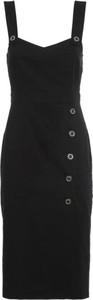 Czarna sukienka Pinko na ramiączkach
