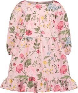 Sukienka dziewczęca Monnalisa w kwiatki z bawełny