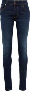 Granatowe jeansy Diesel w stylu casual