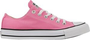 Różowe buty sportowe Converse sznurowane z płaską podeszwą