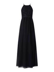 Czarna sukienka Jake*s Cocktail bez rękawów z szyfonu
