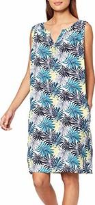 Sukienka amazon.de w stylu casual z dekoltem w kształcie litery v prosta