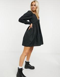 Czarna sukienka Asos z bawełny mini